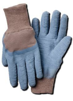 Work gloves designed to protect hands from roses and other thorny shrubs Latex coating for helps protect against sharp objects Textured coating provides grip and durability