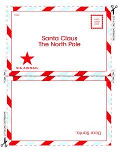 free santa templates santa letters | Letter to Santa Claus Template ...