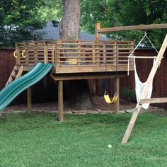 Image result for cheap tree house swing sets