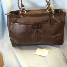 Authentic Coach Brown Leather Tote bag F19728 original MSRP $398 #Coach #TotesShoppers