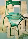 David Hockney - Chair - polaroids