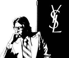 YSL screenprint by artist Michi Broussard  michibroussard.com