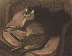 Cats on the Sofa - Theophile Steinlen