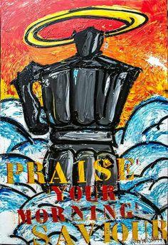 Praise the morning - Acryl and spray paint on aluminium canvas  www.veermania.nl