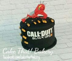 Call of Duty black ops raygun cake