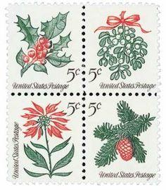 1964 5c Christmas Flowers Scott 1254-57 Mint F/VF NH