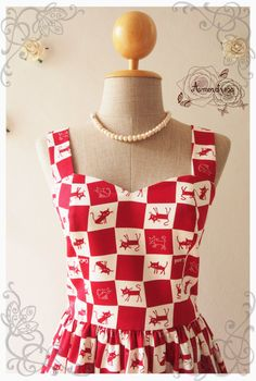 THE CAT DRESS   Red Japanese Cocoland cat dress by Amordress, $52.00
