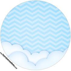 Rótulo Latinha e tubete 2 Balão de Ar Quente Azul