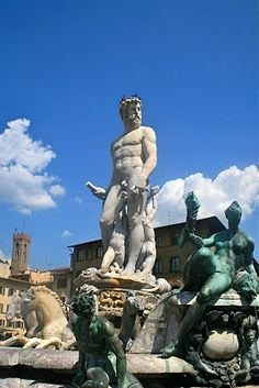"Firenze, Florence, Italy Bartolomeo Ammannati, Nettuno, better known as ""the big white thing"""