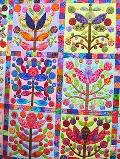 Detail of appliqued quilt from Sew Many Ways...: Quilt Show Pictures...Part 1