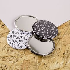 Stunning pocket mirrors for freyacatherine.bigcartel.com - pocket mirrors available in 58mm or 76mm!