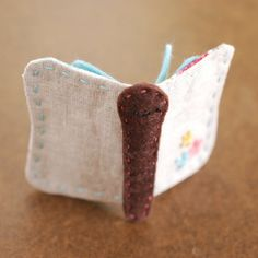 Keep your needles safe and tidy in this butterfly-shaped needle book! thanks so xox