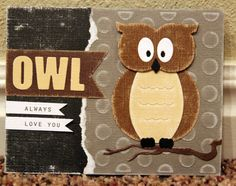 Core'dinations cardstock project  #Owl #Card-making #owl be making this