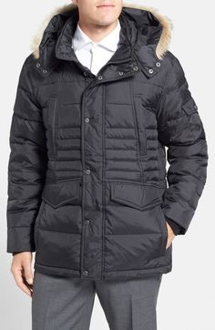 Andrew Marc Marc New York Denton Parka with Genuine Coyote Fur Trim | Jacket, Coat and Clothing