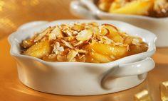 Gratin de pommes et amandes aux pépites d'érable