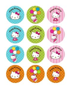 Kit imprimible gratuito de la Hello Kitty.
