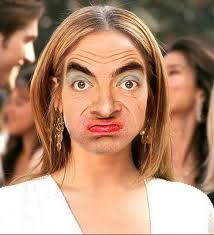 this could happen to you. Mr Beans Face on your face.