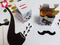 Detektiv Schachtel als Geschenkbox