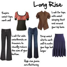 Body Proportions Explained - Long Rise - Inside Out Style Short Legs Long Torso, Short Waist, Inside Out Style, Body Proportions, Work Trousers, Work Skirts, Work Tops, Capsule Wardrobe, Silhouette