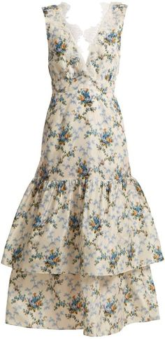 BROCK COLLECTION Lace-detail floral-print dress - THIS IS GORGEOUS.