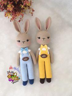 Knitted Bunnies, Bunny Plush, Crochet Bunny, Crochet Animals, Crochet Dolls, Rabbit Toys, Bunny Toys, Baby Boy Gifts, Toddler Gifts