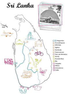 Two Travelling Birds: Sri Lanka : Itinéraire...