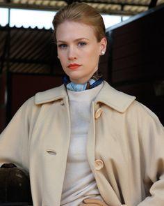Betty Draper knows how to wear a silk scarf #silk scarf #mad men