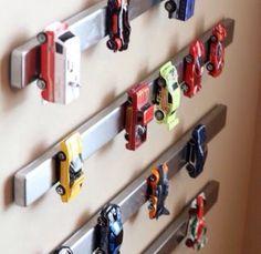 Barras Magnéticas para organizar a coleção de carrinhos!