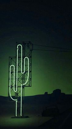 Neon cactus to light up the night skyline. #lightingdesign