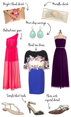 wedding guest outfit ideas / night-time casual..love the outer two, maybe the middle one for my grandma!