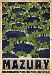 Masuria - Summer, Polish Poster by Ryszard Kaja Love Posters, Art Deco Posters, Visit Poland, Polish Posters, Summer Poster, Railway Posters, Great Paintings, Retro Illustration, Vintage Travel Posters
