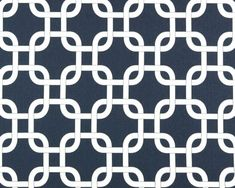 Navy and White drapery fabric | Navy Blue And White Gotcha Links, Blue Duck Fabric, Premier Prints ... Accent Fabric