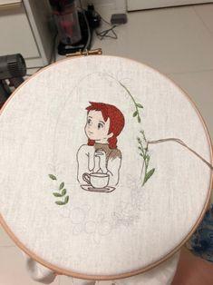 강남프랑스자수공방 10월수업공지 케이블루의 빨간머리앤 커피타임 : 네이버 블로그 Creative Embroidery, Embroidery Hoop Art, Embroidery Patterns, Cross Stitch Patterns, Anne Of Green Gables, Anne Green, Home Room Design, Diy Home Crafts, Animation
