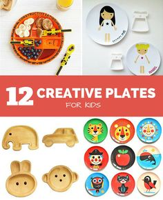 12 Creative Plates for Kids. These fun plates for kids will inspire creativity at mealtime.