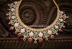 Ruby Drops Grand Diamond Set | Latest Indian Jewellery Designs
