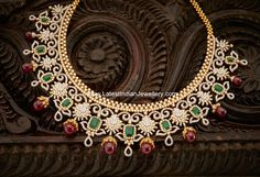 Ruby Drops Grand Diamond Set | Latest Indian Jewellery Designs