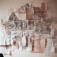 Imagine a collage like this only all bits of paper with the yellow on that we've collected and then a plant drawn/paintd on top like line drawing Ravenclaw, House Of Leaves, Jandy Nelson, All The Bright Places, Wise Girl, The Neighbourhood, Piper Mclean, Paper Towns, Theme Color