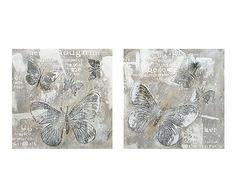 Set de 2 cuadros Mariposas - 70x70 cm