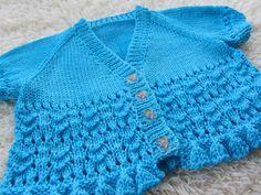 Hand Knit Baby Cardigan by jayceeoriginals on Etsy