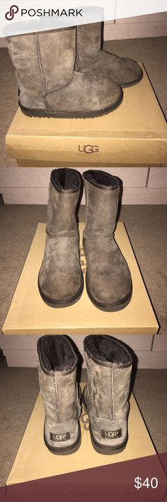 Brown Ugg boots Size 5 kids Ugg boots. Excellent condition!! Chocolate brown UGG Shoes Winter & Rain Boots