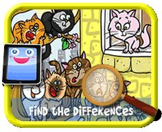 Find The Difference ile ilgili görsel sonucu Find The Differences Games, Hidden Pictures, Different, Games For Kids, Kids Playing, Lunch Box, Activities, Cats, Games For Children