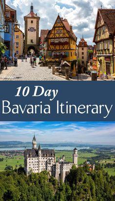 10 days in Bavaria, Germany Itinerary. Where to go, where to stay, best things to do: Neuschwanstein, Zugspitze, Munich, Romantic Road, Garmisch, and day trips to Austria and Liechtenstein.