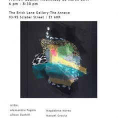 Abstract Art Brick Lane Gallery 23 Marzo 2 Aprile 2017 Alessandro Tognin