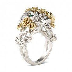 Jeulia Design Skull Rings, Mermaid Rings, Dragon Rings, Octopus Rings, Frog rings On Sale.