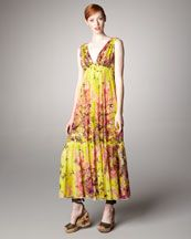 Jean Paul Gaultier Floral-Print Maxi Dress