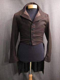 Menswear circa 1810: dark brown herringbone. Mr. Darcy would have worn this.