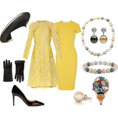 State Visit to Denmark Day 2: Morning by queenalex on Polyvore featuring moda, Victoria Beckham, Oscar de la Renta, Lanvin, Christian Louboutin, Belk & Co. and Philip Treacy