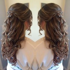 Half up half down prom hair. For similar content follow me @jpsunshine10041