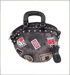 Lady Denim Diamante Appliqué Metal Chain Tote Bag on BuyTrends.com, only price $43.75