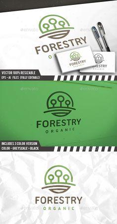 Trees Logo Template Vector EPS, AI Illustrator #logotype Download here: http://graphicriver.net/item/trees-logo/14201141?ref=ksioks